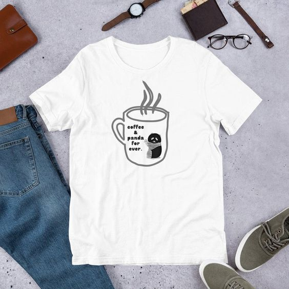 Panda and Coffee Lover T-Shirt SN01