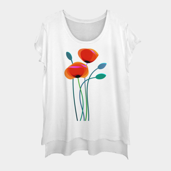 Poppy Flowers T-Shirt GT01