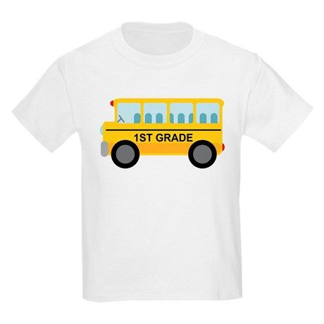 1ST GRADE SCHOOL BUS T-shirt FD01