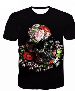 3D Skull Head T-shirt FD01