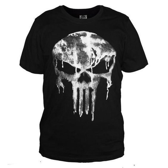 Punisher Printed Black T-shirt FD01