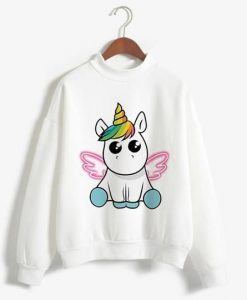 Unicorn Print Sweatshirt SR01