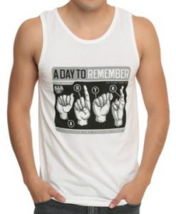 A Day To Remember Sign Language Tank Top KH01