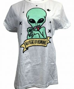 Allergic To Humans Alien T-Shirt DS01