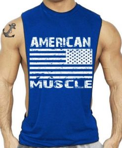 American Flag Design Bodybuilding Fitness Tank Top KH01