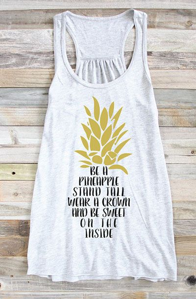 Be A Pineapple Tank Top EL01