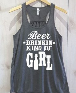 Beer Drikin kid Of Girl Tank Top EL01