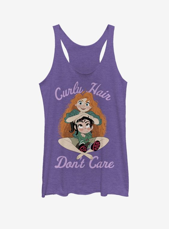 Curly hair dont care Tank top