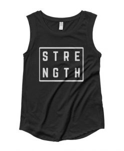 Women's Strength Square Muscle Tank Top KH01