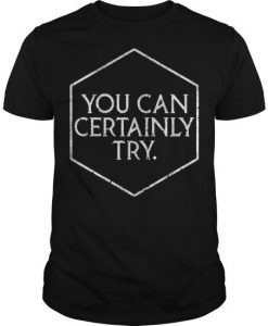 You Can Certainly Try T-shirt FD01