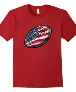4th July USA Football T-Shirt FD01