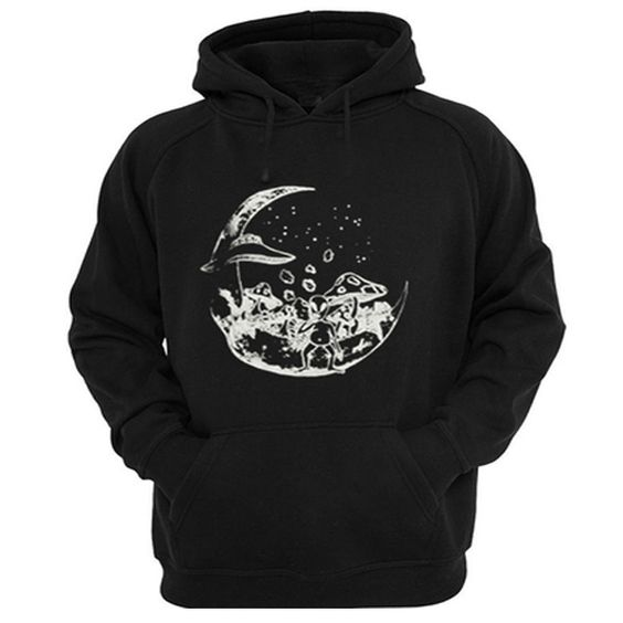 Alien on the moon hoodie SR29