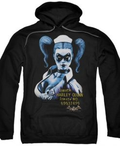 Arkham Harley Quinn Adult Pull-Over Hoodie AI01