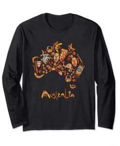 Australia Map iconic Sweatshirt SR01