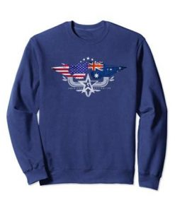 Australia Usa Flag Sweatshirt SR01