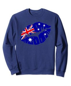 Australia flag kiss Sweatshirt SR01