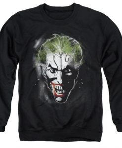 Batman Sweatshirt featuring a close up AI01