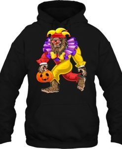 Bigfoot Halloween Clown Costume Hoodie AI01