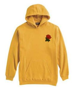 Red Rose Yellow Hoodie AZ30