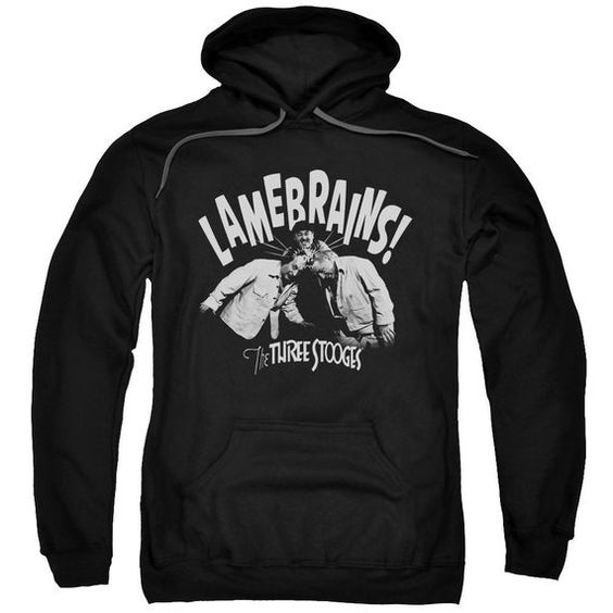 Three Stooges Lame Brains Black Hoodie AI01
