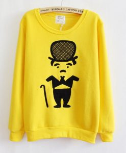 Yellow Thickened Fleece Sweatshirt AZ30