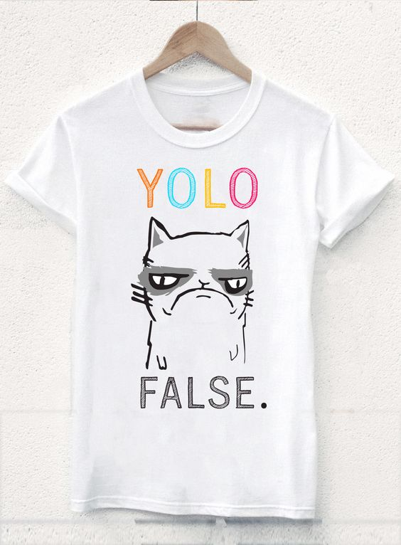 Yolo white false T-shirt FD28