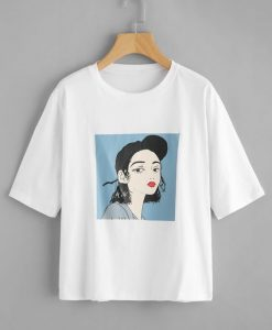 Young Casual White Design T-Shirt DV30