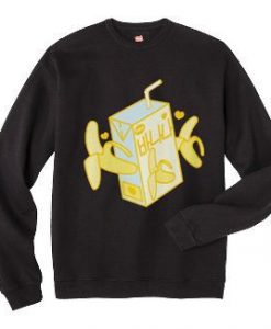 Banana Milk Box Sweatshirt EL30N