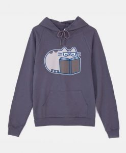 Reading Pusheen Hoodie N27AZ