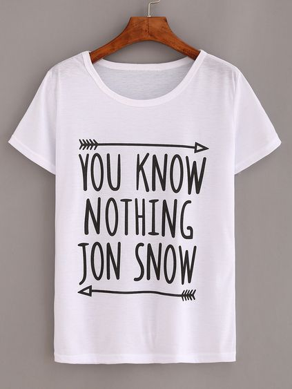 You Know Nothing T-Shirt N12VL