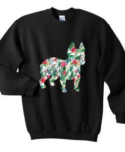 bulldog flower sweatshirt AY22N