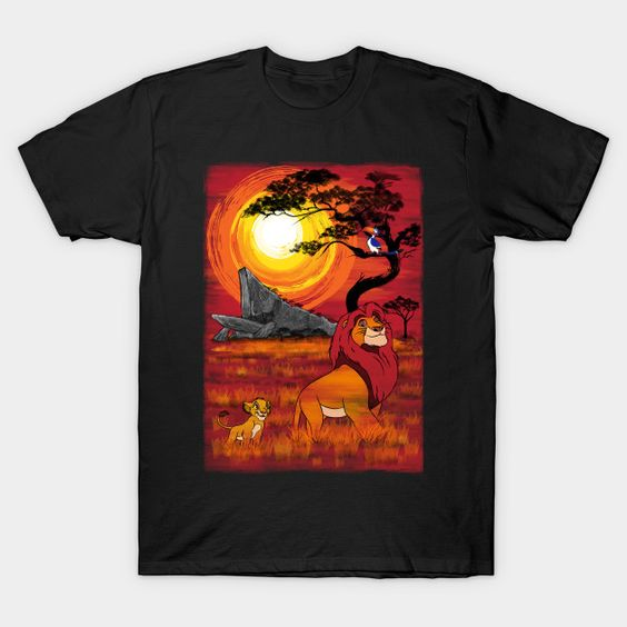 Sunset in the Pride Lands T-Shirt AY27D