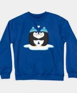 Two Lovers Penguins Sweatshirt SR2D