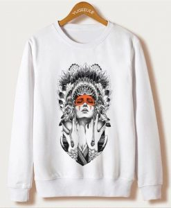 women Indians Sweatshirt Fd4D