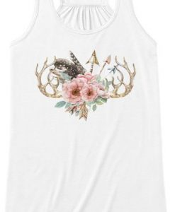 Antlers-and-flowers TankTop DL29J0