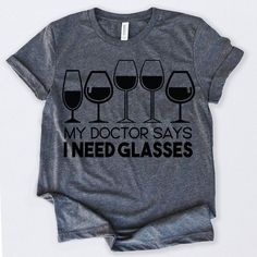 Wine Lovers My Doctors Tshirt EL14J0
