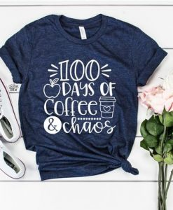 100 Days Of Coffee T-Shirt DL06F0
