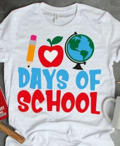 100 Days of School T-Shirt ND3F0
