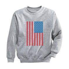 American Flag Usa Sweatshirt EL6F0