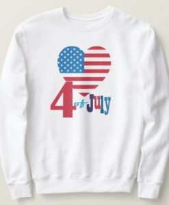 USA Flag Heart Sweatshirt EL6F0
