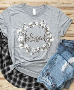 Beauty Design Blessed T Shirt LY27M0