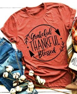 Blessed Thankful T Shirt LY27M0
