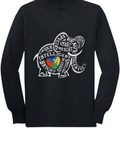 Autism Awareness Elephant Sweatshirt TK3JN0