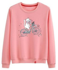 Cat Ride A Bike Sweatshirt TK3JN0