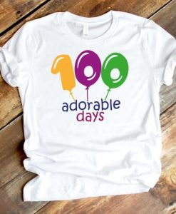 100 adorable days Tshirt TU18AG0