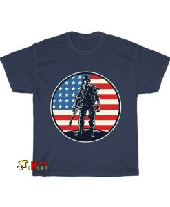American Soldier Badge T-Shirt AL19D0