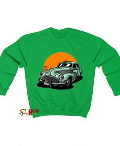 Vintage Classic Car Illustration Sweatshirt AL24D0