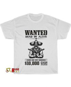 wanted dead or alive T-shirt AL18D0
