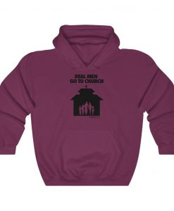Real Men Go To Church Hoodie AL27MA1