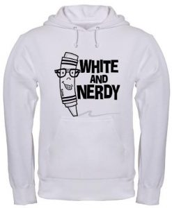 White And Nerdy Hoodie EL14A1
